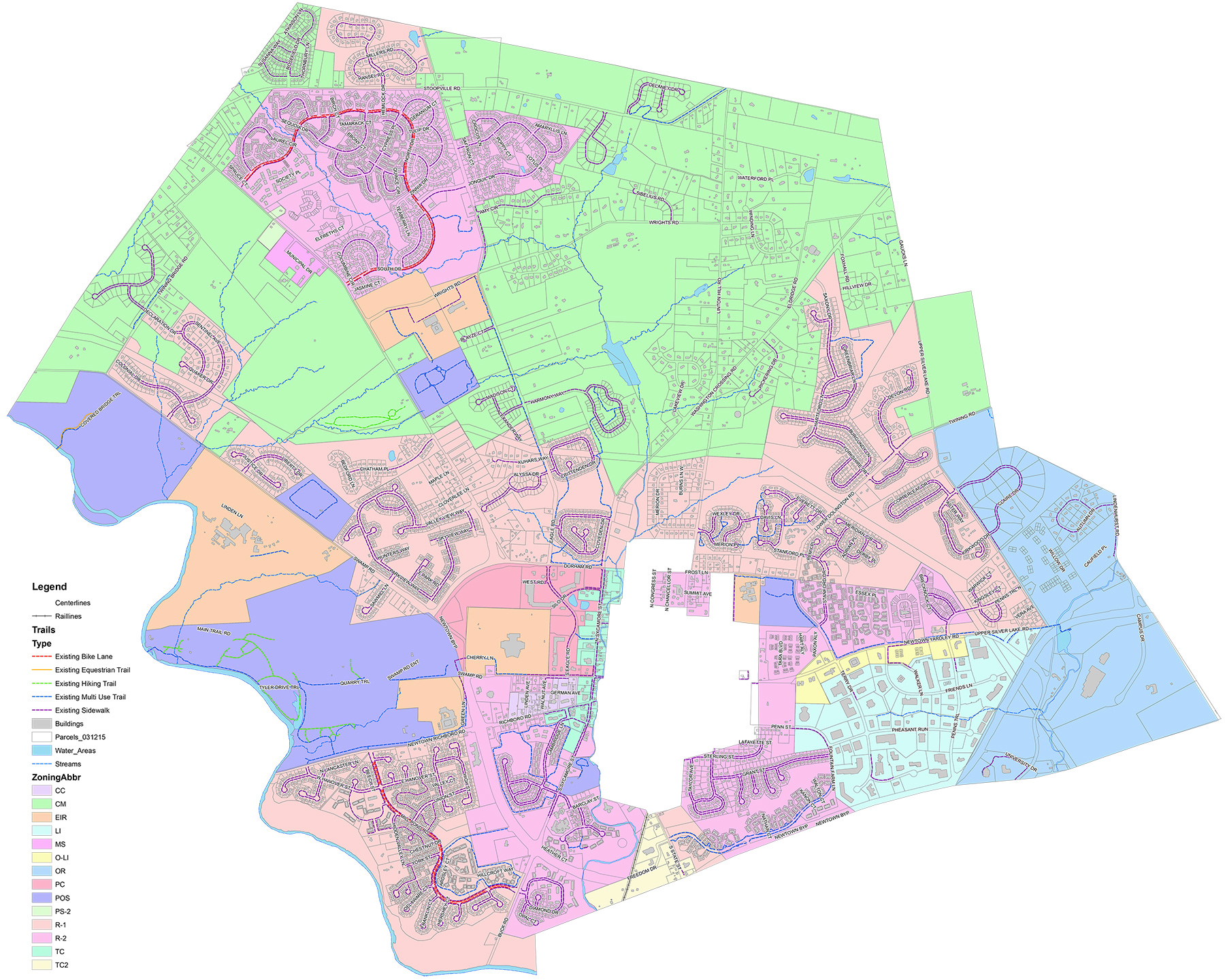 Newtown Township zoning map